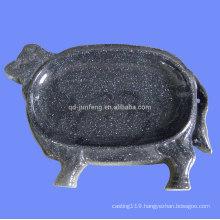 enameled animal shape plate steel plate