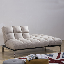 Metal Legs White Fabric Folding Sofa Bed