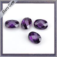 Jóias Set Vários Cor Checker Duplo Cut Oval CZ Stone