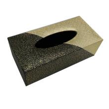 Rectangle Boîte en tissu en cuir pour hôtel / bureau / chambre