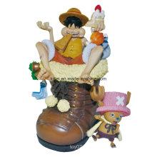Pirate Luffy vinilo de dibujos animados PVC figura de acción de plástico bebé juguetes