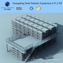 Assoalho de mezanino do shelving com a cremalheira da prateleira do GV / ISO para o armazenamento do armazém