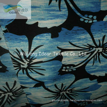 75DX300D Printed Plain Polyester Microfiber Peach Skin Fabric For Beach Shorts