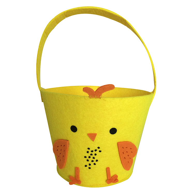 Easter Yellow Chick Tote Basket