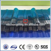 Lexan gewelltes Polycarbonat-Folie / Polycarbonat-Wellblech / Wellpappe aus Polycarbonat für die Dachdeckung