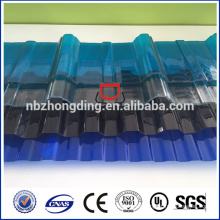Lexan hoja de policarbonato corrugado / hoja de policarbonato corrugado / hoja de policarbonato corrugado para techado