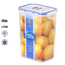 rechteckige Kunststoff Spaghetti Behälter Aufbewahrungsbox mit Deckel