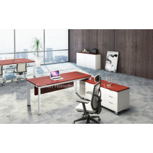 Mesa de escritório de melamina Mobiliário de mesa de gerência moderna (HF-YZL003)