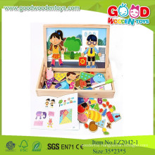 Hot New Product For 2015 Magnetic Shape Game Educational Toys In Wooden Box