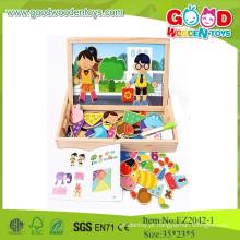 Hot New Product For 2015 Magnetic Shape Game Brinquedos Educativos Na Caixa De Madeira