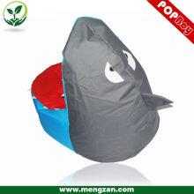 Tiburón en forma de bolsas de frijol niño, beanbags niños, muebles para niños