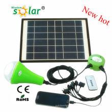 Vendible CE Solar Inicio iluminación LED para uso de noche con una bombilla