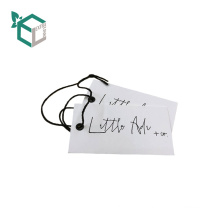 2018 Durable Logo Printed Garment Hag Tag for cloths