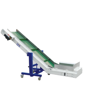 Industrial conveyor belt for injection machine