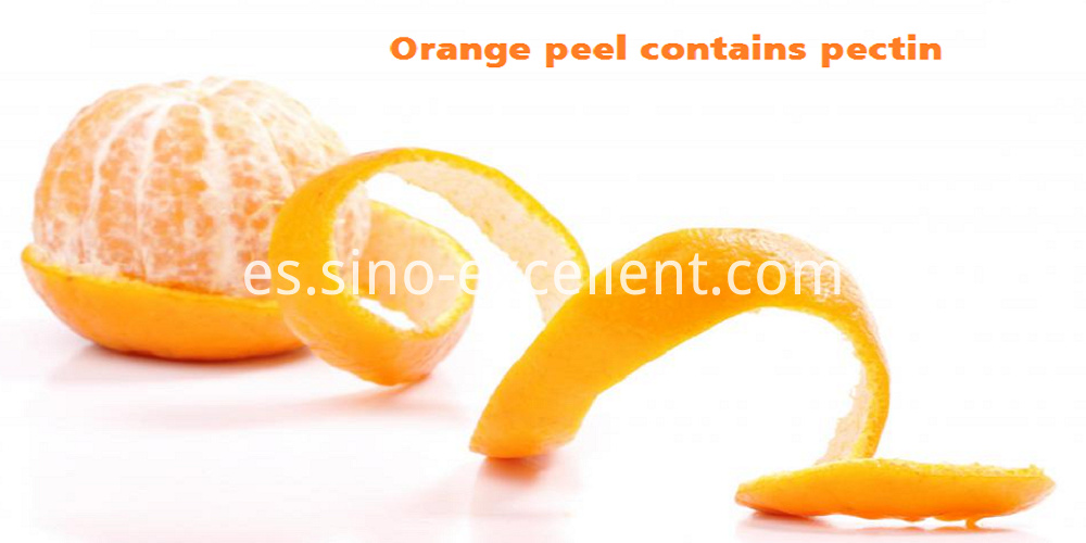 orange peel contain pectin