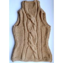 Hand Strick Frauen Winter Pullover Weste Handgefertigte Strick Wolle Zubehör