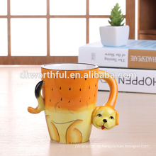 Dekorative Keramik Tierbecher, Keramik Hund Becher für Großhandel