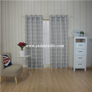 WZQ172 Grey 2015 Top Sell Linen Touching Jacquard Curtain Fabric