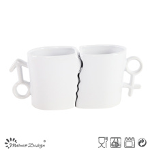 11oz Porcelain Valentine Mugs with Spoon