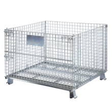 Stackable Storage Folding Wire Metal Warehouse Cage