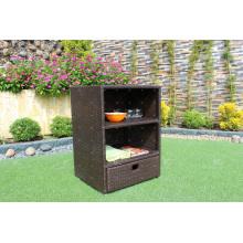 Professional Design Patio PE Rattan Wicker Storage Cabinet