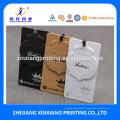 Пользовательские Бренд переработанной Крафт-бумага одежда повесить тег с тиснением