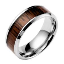 Mode-Titan überzogener hölzerner leerer Ring für Einlegearbeit
