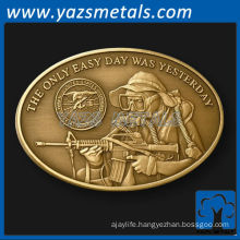 customize coins, custom metal oval Nay Seal challenge coin