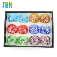 Wholesale Mix Color Lampwork Glass Rings For Decorate 12pcs/box, MC1012