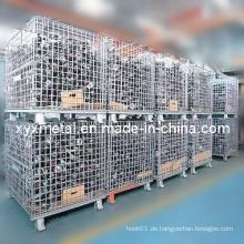 Zink-Plated Flat Pack Beweglicher Draht-Käfig-Ineinander greifen-Speicher-Behälter
