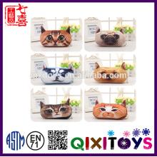 Lindo Creativo 3D Último Plush Animal Pencil Bag Plush Coin Toy Storage Bag Portable Square Box regalo de los niños