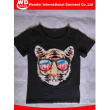 Черный Мода Печатных Горячая Оптовая Продажа Лето Дети T Рубашка