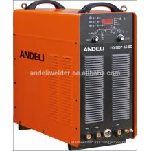 Haute fréquence numérique onde carrée multi fonction ac dc tig machine de soudage tig-500p acdc