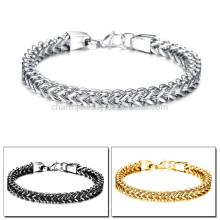 2015 nueva pulsera de acero titanium de la personalidad carismática de los hombres del regalo tres personalizados del color GS671
