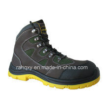 New Crazy Horse Leather MID-Cut Safety Shoes (HQ08002)