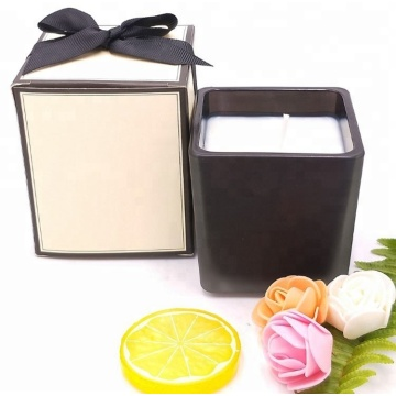 Natural Black Square Glass Container Aromatics Candle