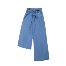 Ladies Woven Wide Leg Pants