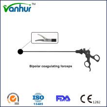 Surgical Instruments Laparoscopic Single Action Bipolar Coagulating Maryland Forceps