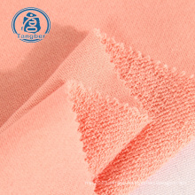 32s 300gsm plain dyeing 100 % cotton french terry knitted fabric for hoodie and sweatshirt