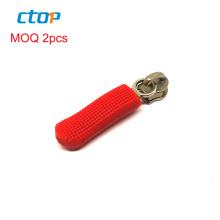 latest hot selling wholesale factory good price rubber silicone zipper pull custom zipper puller slider zipper