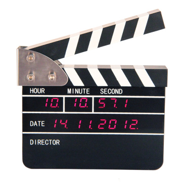Mini Film Clapper Reloj Digital para Mesa