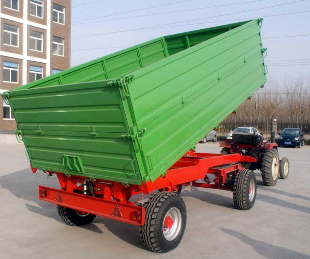 Double Axle Dump Trailer