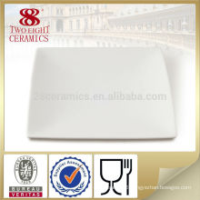ceramics manufacture wholesale bone china white square shape dinner plate