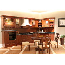 Wholesale Cheap Classic Solid Wood Kitchen Cabinet