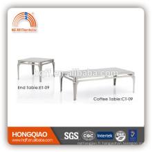 CT-09 ET-09 table basse moderne en verre d'acier inoxydable