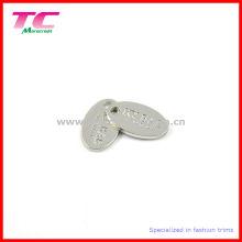Пользовательский блестящий серебристый штампованный гравированный металлический ярлык