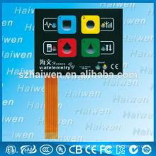 Тисненый кнопочный мембранный выключатель со светодиодной подсветкой