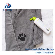 2018 Fábrica promoção pet toalha de microfibra com logotipo impresso