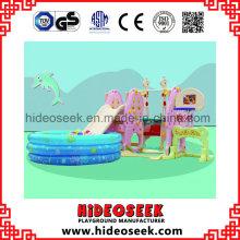 Mini Indoor Plastic Slide und Swing für Kleinkind mit Football Hoop