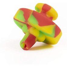 Tampa de tubo de teste com tampa colorida de silicone com orifício
